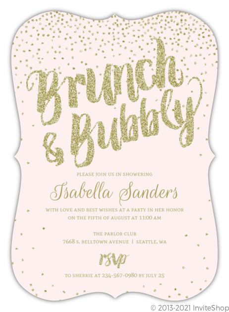 cards champagne invitations by portrait bridal the paperlust shower independent cheap designs pop