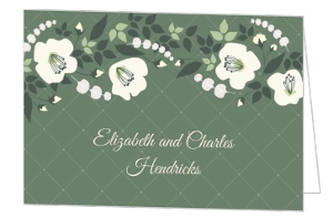 Greenery Botanical Wedding Thank You Card