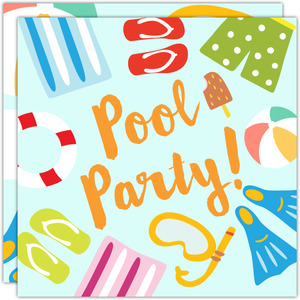 Pool Party Miscellaneous Invitation