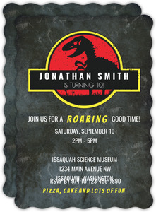 Roaring Good Time Birthday Invitation