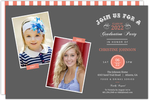 Vintage Typographic Memories Graduation Invitation