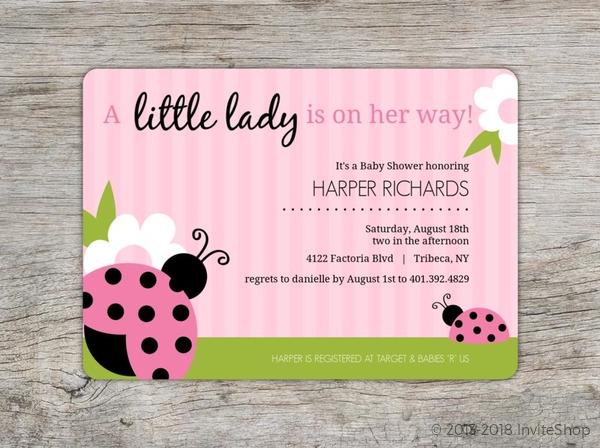Pink and green lady bug girl baby shower invitations baby shower pink and green lady bug girl baby shower invitations filmwisefo