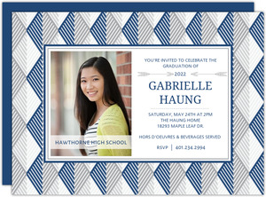 Chic Geometric Graduation Invitation