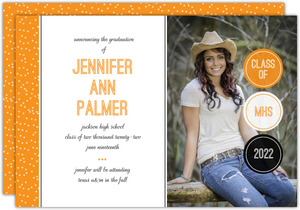 School Colors Graduation Announcement