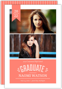 Coral Banner Graduation Announcement