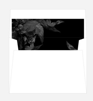 Dark Leaves Modern Envelope Liner
