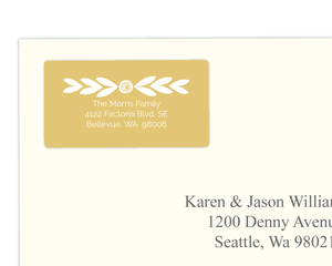 Gold Band Address Label