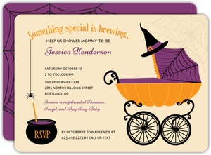 Spooky Stroller Baby Shower Invitation