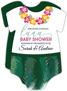 Onesie Luau Baby Shower Invitation