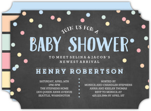 Confetti Sip and See Baby Shower Invitation