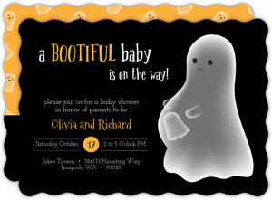 Bootiful Baby on the Way Baby Shower Invitation