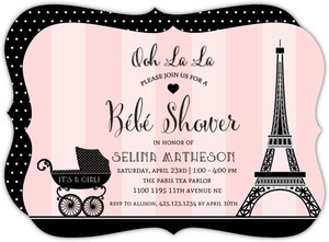 Paris Carriage Baby Shower Invitation