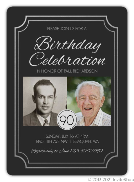 Faux silver foil 90th birthday invitation adult birthday invitations faux silver foil 90th birthday invitation filmwisefo