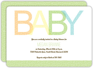 Baby Letters Baby Shower Invite