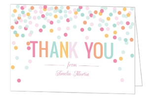 Fun Colorful Confetti Thank You Card