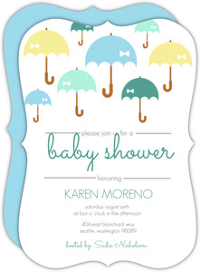 Umbrella Shower Boy Baby Shower Invite