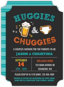 Huggies And Chuggies Baby Shower Invitation
