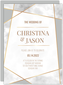 Modern Geometric Frame Wedding Invitation