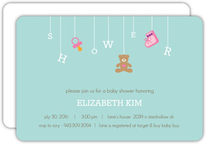 Teal Baby Shower Mobile Baby Shower Invite