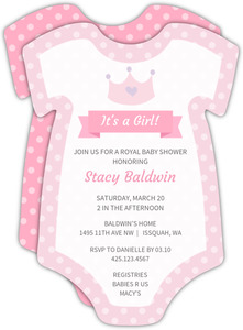 High Quality Girl Baby Shower Invitations