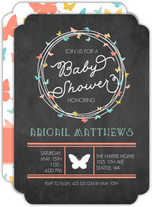 Butterfly Garland Baby Shower Invitation