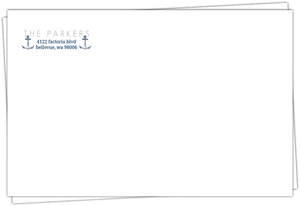 Classic Blue Nautical Return Address Envelope