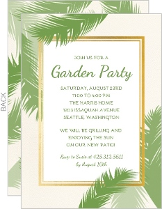 Greenery Summer Party Invitation