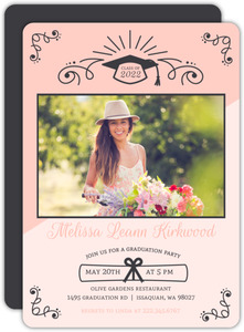 Fun Two Tone Graduation Party Invitation