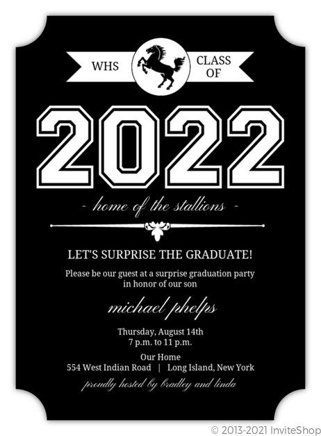 Classic black and white graduation invitation graduation announcements classic black and white graduation invitation filmwisefo Choice Image
