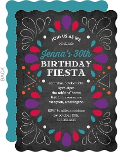 Chalkboard Fiesta Birthday Party Invitation