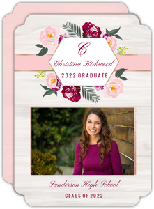 Floral Boho Graduation Announcement