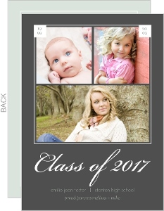 Gray Timeline Graduation Invitation