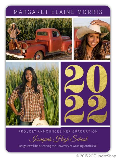 simple purple graduation announcement graduation announcements