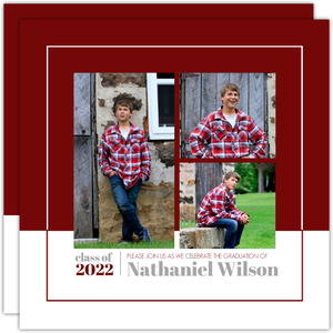 Simple Modern Square Graduation Announcement