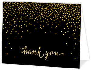 Faux Glitter Confetti Thank You Card