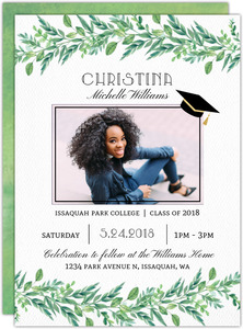 Gorgeous Foliage Graduation Announcement