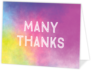 Colorful Watercolor Background Thank You Card