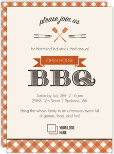 Country Checker Open House BBQ Invitation