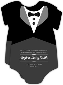 Tuxedo Birth Announcement