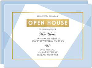Geometric Frame Business Open House Invitation