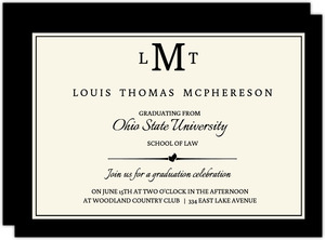 Classic Law School Diploma Announcement