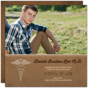 Brown Law School Graduation Invitation