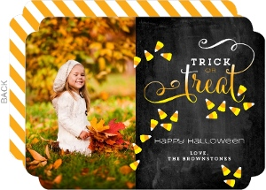 Candy Corn Treat Halloween Photo Card