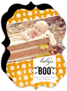 First Boo Halloween Photo Card