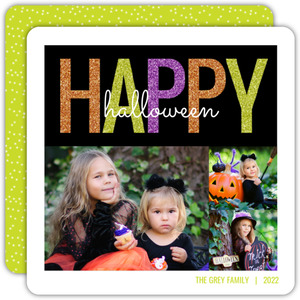 Flashy Happy Halloween Photo Card