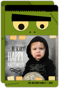 Frankstein Happy Halloween Photo Card