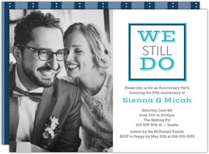 Modern We Still Do Photo Anniversary Invitation