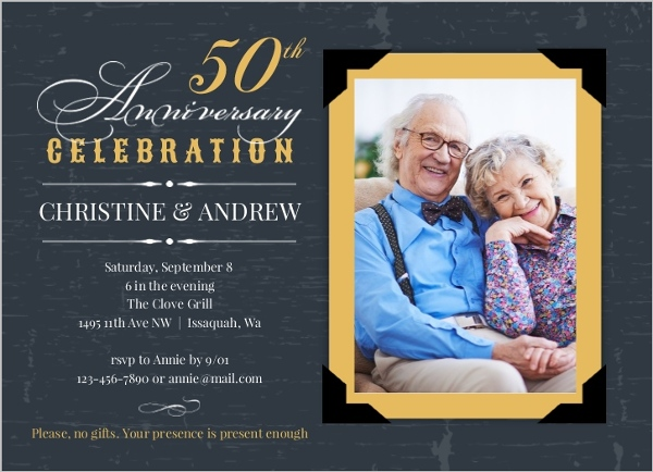 Cheap Custom 50th Anniversary Invitations Invite Shop