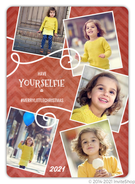 whimsical selfie collage christmas photo card - Collage Christmas Cards