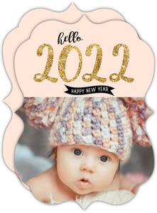 Hello New Year Baby Photo Card